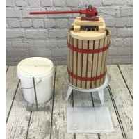 Traditional Fruit and Apple Press (18 Litre) with Straining Bag and Pulping Bucket