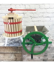 Manual Apple Scratter Pulper Pomace and Traditional Fruit and Apple Press (12 Litre) with Straining Bag