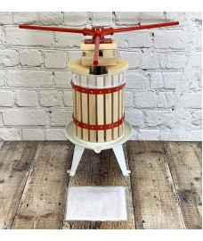 Deluxe Fruit and Apple Press (6 Litre) Pack with 2 Straining Bags, 2 Sets of Extension Blocks & 3 Handles