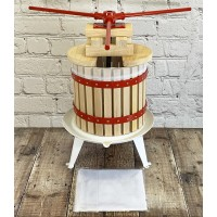Deluxe Fruit and Apple Press (12 Litre) Pack with 2 Straining Bags, 2 Sets of Extension Blocks & 3 Handles