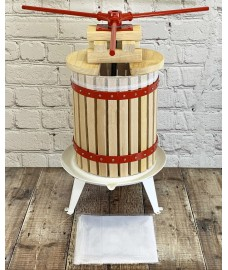 Deluxe Fruit and Apple Press (18 Litre) Pack with 2 Straining Bags, 2 Sets of Extension Blocks & 3 Handles