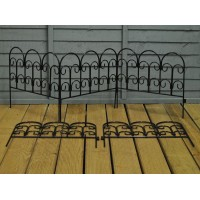 Set of 5 Steel Garden Lawn, Path and Border Edging Panels (45cm x 41cm)