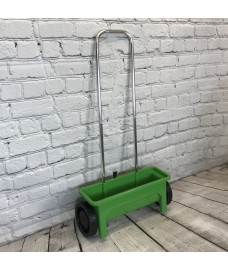 Lawn Garden Drop Spreader for Seed, Feed and Fertiliser (12 Litre Capacity)