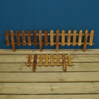Set of 3 Wooden Lawn Edging Panels (50cm x 20cm)
