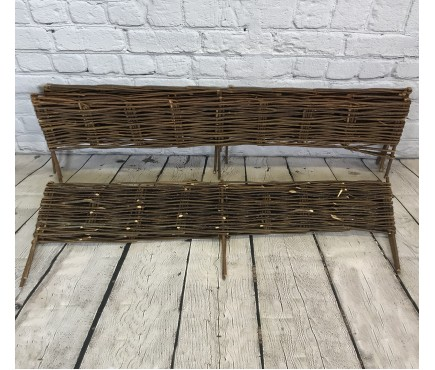 Set of 5 Willow Hurdles Lawn Edging (120cm x 20cm)