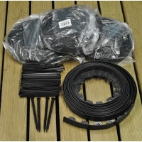 Flexible Plastic Garden Edging with 160 Pegs (40m)