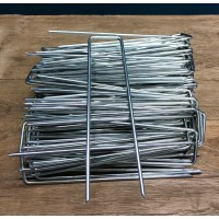 150mm Stainless Steel Weed Fabric U-Shaped Multi Purpose Garden Fixing Pins Pegs (Pack of 100)