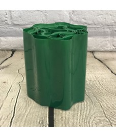Green Plastic Garden Lawn Edging (9m x 15cm Roll)