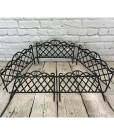 Set of 5 Plastic Lawn Edging Lattice Panels (45cm x 35cm)