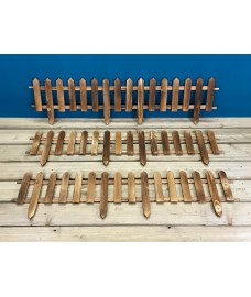 Set of 6 Wooden Picket Fencing Lawn Edging Panels (50cm x 20cm)