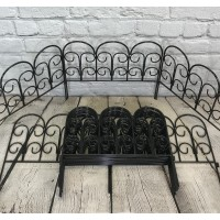 Set of 20 Steel Garden Lawn, Path and Border Edging Panels (45cm x 41cm)