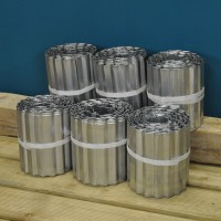 Set of 6 Galvanised Steel Lawn Edging Rolls (16.5cm x 5m)