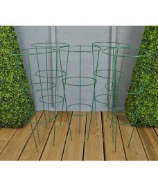 Pack of 5 Conical Garden Plant Support Rings (48cm)