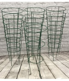 Pack of 10 Conical Garden Plant Support Rings (48cm)