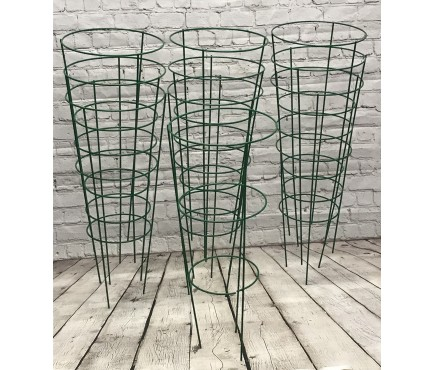Pack of 10 Conical Garden Plant Support Rings (60cm)
