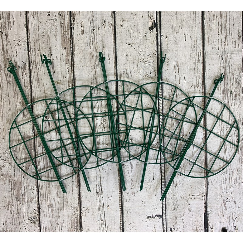Pack of 5 Grow Through Plant Support Rings (50cm x 30cm)