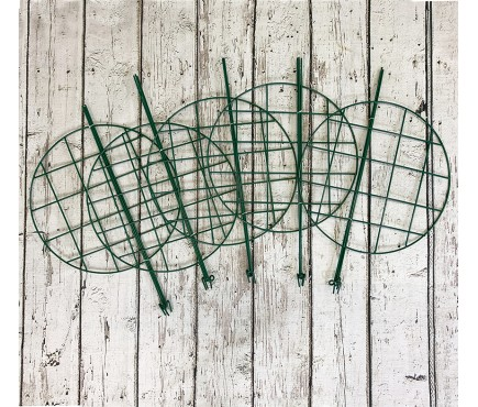 Pack of 5 Grow Through Plant Support Rings (60cm x 40cm)