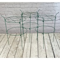 Pack of 3 Peony Circular Metal Plant Supports (73cm)