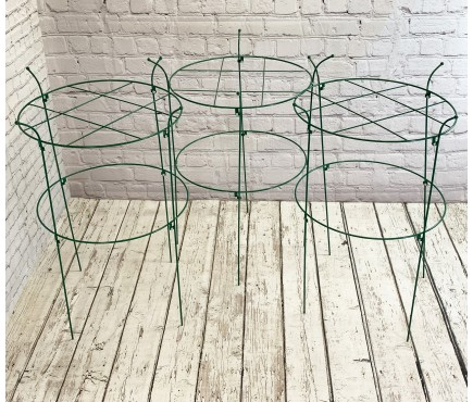 Pack of 3 Peony Circular Metal Plant Supports (90cm)