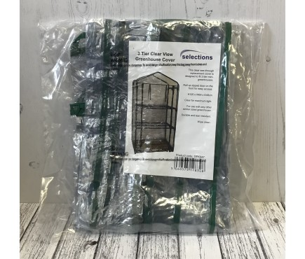3 Tier Mini Greenhouse Clear View Replacement Cover
