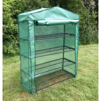Extra Wide 4 Tier Reinforced Mini Greenhouse