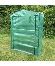 Factory Second - Extra Wide 4 Tier Reinforced Mini Greenhouse