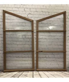 Pair of Side Panels for Wooden Mini Growhouse (Wooden Frame and Polycarbonate)
