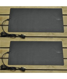Set of 2 Large Heated Seed Propagation Mat (60cm x 30cm)