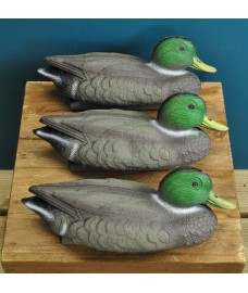 Mallard Duck Hunting Shooting Floating Decoy Pond Decoration (Set of 3)