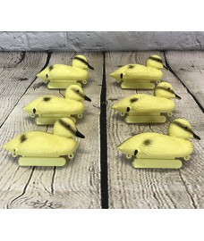 Yellow Duckling Hunting Shooting Floating Decoy Pond Decoration (Set of 6)