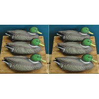 Mallard Duck Hunting Shooting Floating Decoy Pond Decoration (Set of 6)