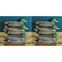Mallard Duck Hunting Shooting Floating Decoy Pond Decoration Large (Set of 6)