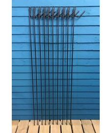 Steel Fencing Barrier Stakes Posts 135cm High (Pack of 10)