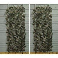 Set of 2 Ivy Artificial Garden Leaf Trellis (1.8m x 0.6m)