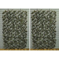 Set of 2 Ivy Artificial Garden Leaf Trellis (1.8m x 0.9m)