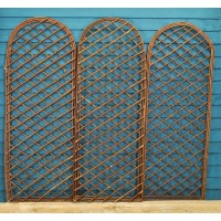 Set of 3 Willow Trellis With Curved Top (120cm x 45cm)