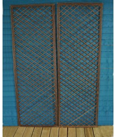 Set of 2  Extra Tall 6 Foot Willow Trellis Framed Panel (180cm x 60cm)