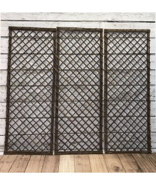 Set of 3 Willow Trellis Framed Panel (120cm x 45cm)