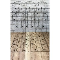 Set of 5 x Leaf Design Metal Trellis (120cm x 50cm)