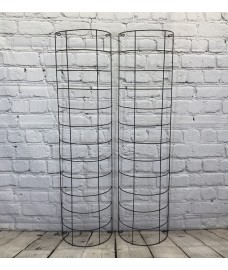 Large Metal Tube Trellis Semi Circular for Drainpipes (Set of 2)