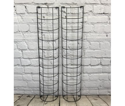 Metal Tube Trellis Semi Circular for Drainpipes (Set of 2)