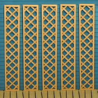 Set of 5 Wooden Framed Square Trellis Panels (180cm x 30cm)