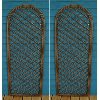 Set of 2 Willow Trellis Panel With Curved Top (120cm x 45cm)