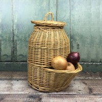 Wicker Willow Onion Hopper Kitchen Storage