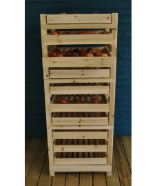 Factory Second - Traditional Wooden Apple Storage Rack (10 Drawer)