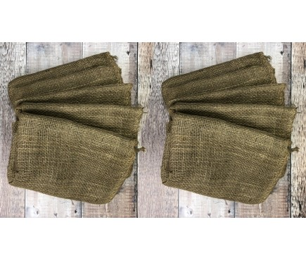 Pack of 10 Large Hessian Jute Potato Storage Sacks