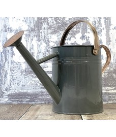 French Grey Metal & Copper Watering Can (3.5 Litre)