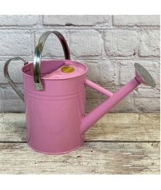 Pink Metal & Chrome Watering Can (3.5 Litre)