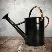Black Metal & Copper Watering Can (3.5 Litre)