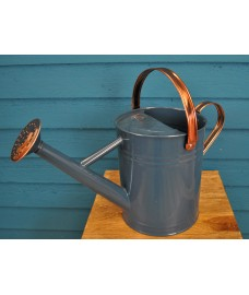 Factory Second - Heritage Blue & Copper Metal Watering Can (3.5 Litre)